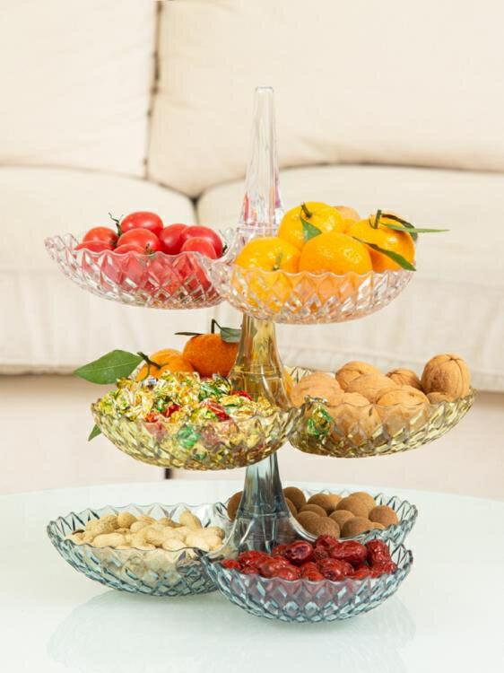 怡點創意網紅可疊加多層水果盤客廳家用干果零食糖果盒點心架茶幾