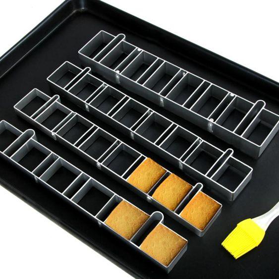 烘焙模具6連8連鳳梨酥圈正方形長方形鳳梨酥餅幹模具鳳梨酥連具