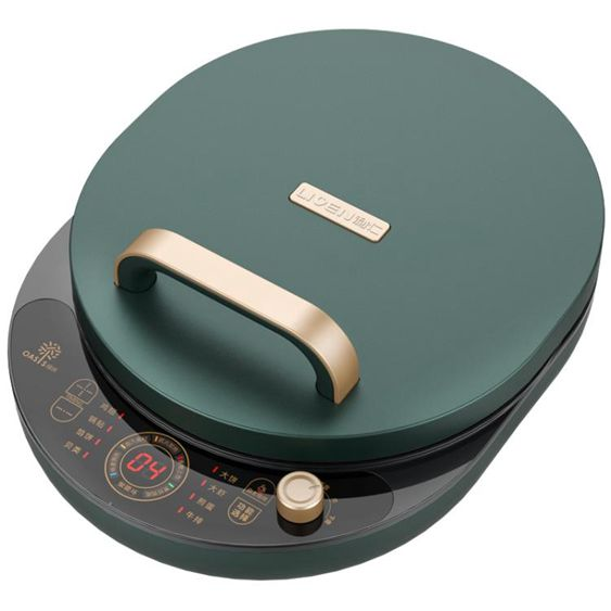 電餅鐺檔家用雙面加熱加深加大自動斷電煎烤餅機烙餅鍋綠洲