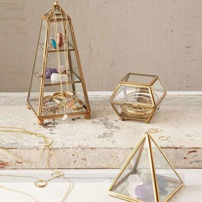 玻璃首飾盒歐式飾品收納首飾架復古珠寶盒手錶珠寶展示架道具MBS
