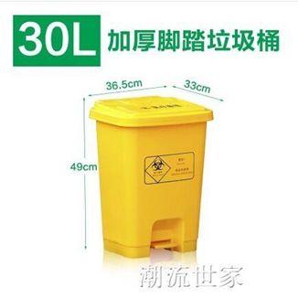 廢物垃圾桶醫院用利器盒加厚黃色醫院診所腳踏桶家用有蓋大號