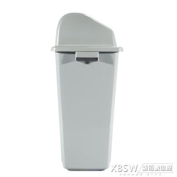 HS/鴻升戶外垃圾桶塑料無蓋工業用學校廚房果皮箱大容量物業小區CY