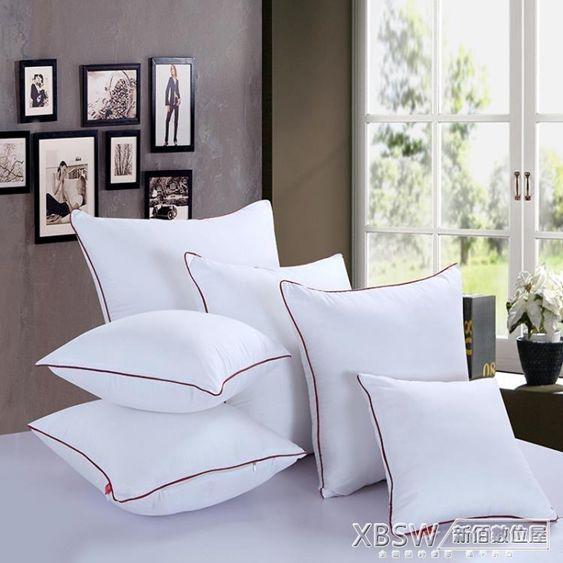 抱枕芯沙發靠枕靠墊芯40455055606570方枕芯正方形靠背枕芯CY