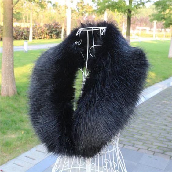 春男女仿皮草狐貍毛毛領子韓版保暖仿貉子毛假領子圍巾披肩