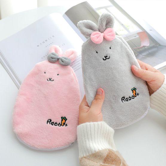 注水熱水袋小號絨布隨身女生暖肚子韓國可愛灌水暖水袋學生暖手寶