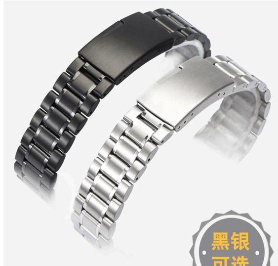通用不銹鋼錶帶男適用卡西歐西鐵城ck天梭精鋼手錶鍊女1820mm