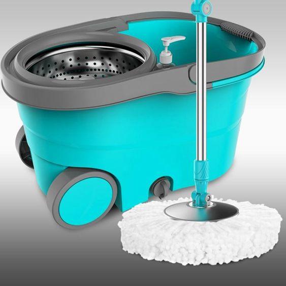 拖把桶旋轉拖把雙驅動家用不銹鋼手壓拖布桶免手洗自動地拖墩布