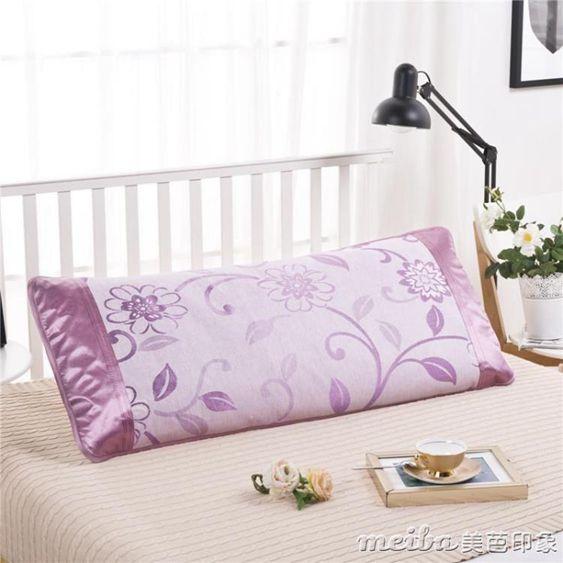 冰絲雙人枕套1.5m1.8米藤枕頭套48 120cm150cm180cm加長夏涼枕套