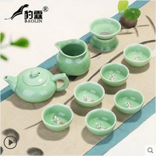 豹霖龍泉青瓷功夫茶具套裝家用簡約現代泡茶杯茶壺景德鎮茶藝客廳