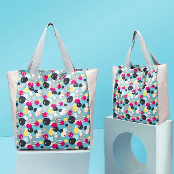 手提單肩包衣物收納袋旅行整理包便攜購物袋環保袋手提袋大容量潮