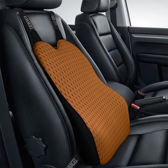 汽車腰靠護腰墊記憶棉車座椅墊靠背腰枕腰部增高支撐車用四季背靠