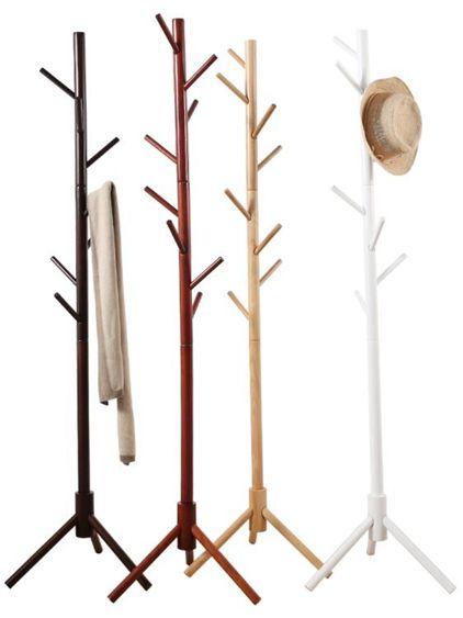 掛衣架落地臥室實木衣帽架家用簡易的單桿式衣服架子立式掛包架