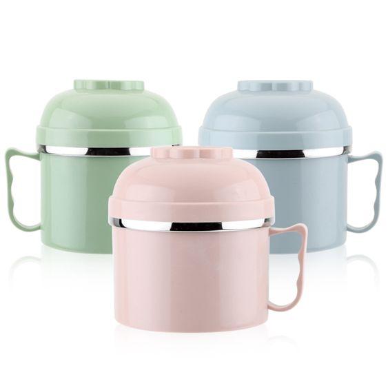 學生飯盒不銹鋼雙層快餐杯便當盒防燙泡面杯食堂打飯盒大容量