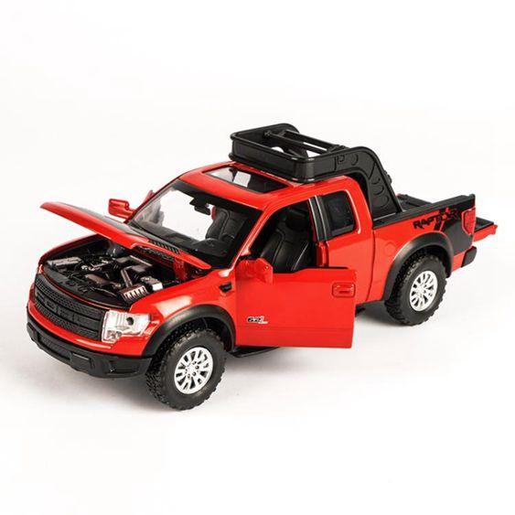 合金皮卡運輸車模型兒童玩具車1:32聲光回力小汽車男孩玩具-