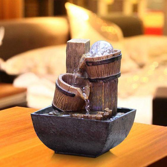 風水輪擺件流水小噴泉裝飾品禮物客廳辦公室創意桌面假山桌面裝飾