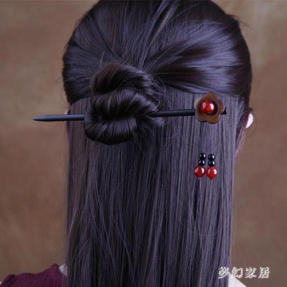 紅色髮簪古風流蘇步搖中國風簪子古裝飾品民族風髮飾qf26188
