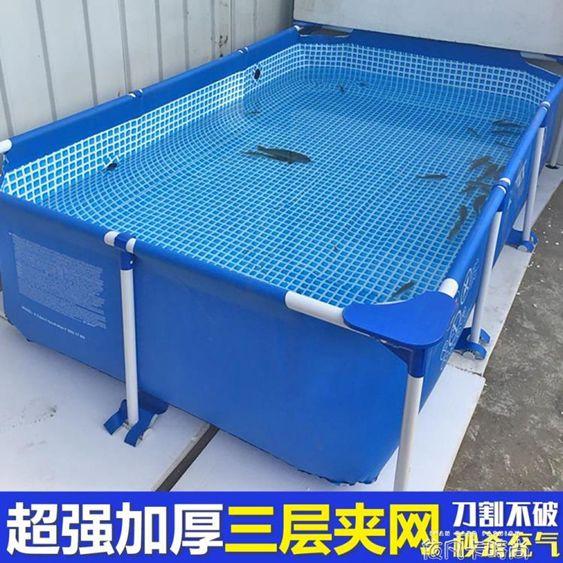超大號兒童充氣支架游泳池家用小孩家庭養魚池大型成人加厚戲水池