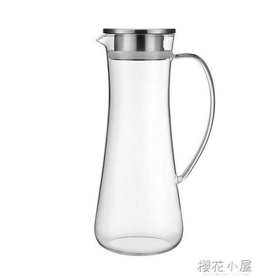 心選高硼硅玻璃涼水壺冷水壺套裝耐高溫泡茶壺套裝QM
