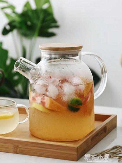日式玻璃冷水壺套裝耐熱泡茶壺涼開水杯壺家用涼水壺電陶爐壺杯子QM