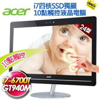ACER AU5-710-001 24型6代i7四核SSD獨顯 10點觸控Win10 AIO電腦 i7-6700T;8GB*1 /23.8T;256GSSD/N1T;SM DL / WLAN+BT;..