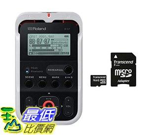 7東京代購 日本 Roland 樂蘭 R-07 WH 專業數位錄音筆 線性PCM microSDHC 白色