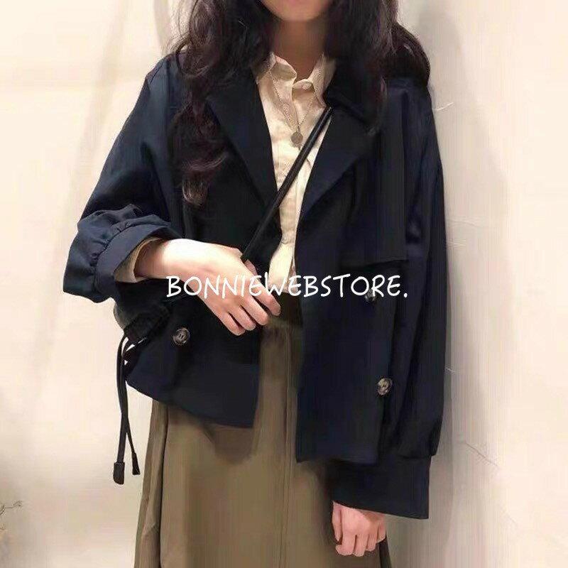 韓版復古短款風衣外套