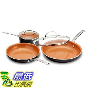 [8美國直購] 不沾鍋 Gotham Steel 1435 5 Piece Kitchen Essentials Cookware Set with Ultra Nonstick Copper Surface