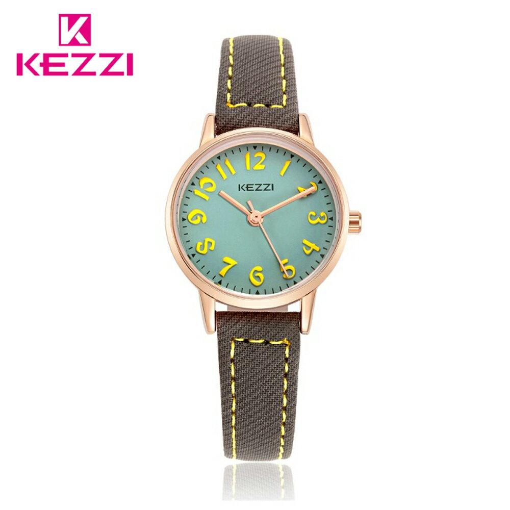 KEZZI 珂紫 K-1564 IP 時尚學院風多色搭配款手錶 3