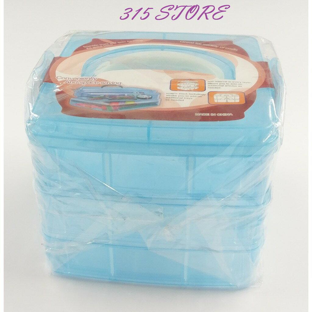 小3層手提盒 *1入 / 168705007三層18格飾品收納盒【139百貨】