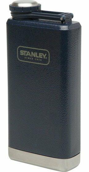 【【蘋果戶外】】Stanley 1001564 美國 SS Flask 236ml 美式復古軍用不鏽鋼水壺 錘紋藍