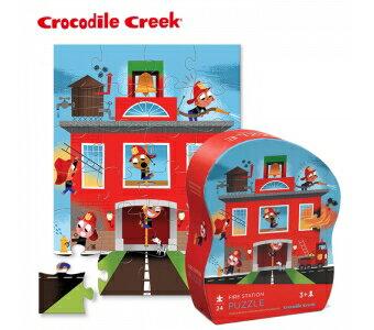 【美國CrocodileCreek】迷你造型拼圖系列-英勇消防