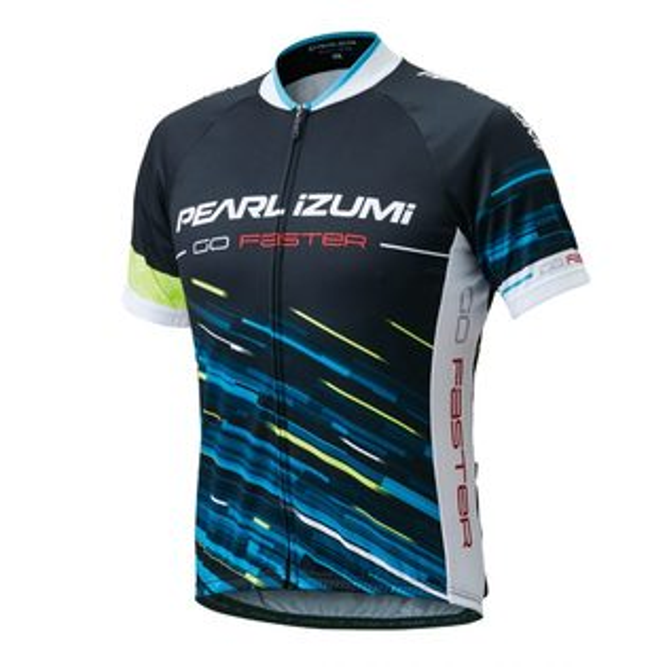 【7號公園自行車】PEARLIZUMI621-B-40基本款男性短袖車衣(線條藍)