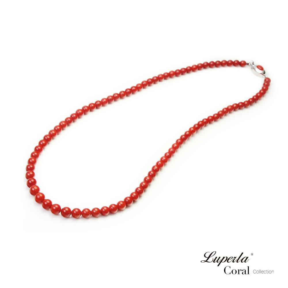 大東山珠寶 頂級天然全紅珊瑚 5.5-6mm圓珠項鍊 4