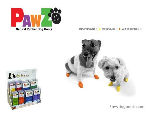 【LOHAS BULL】美國PAWZ寵物天然橡膠腳套 (12個入)M~XL