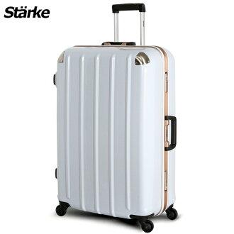 E&J【008005-02】starke 德國設計 28吋 鏡面鋁框硬殼行李箱 C-1系列 -白色金框