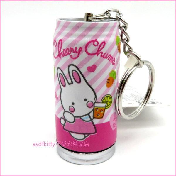 asdfkitty可愛家☆茉莉兔罐型原子筆鑰匙圈吊飾-日本正版商品