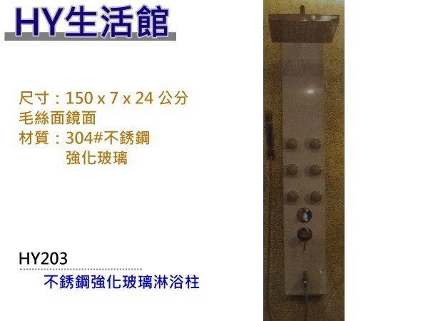 不銹鋼毛絲面玻璃淋浴柱 HY203 大型花灑淋浴柱~HY 館~水電材料