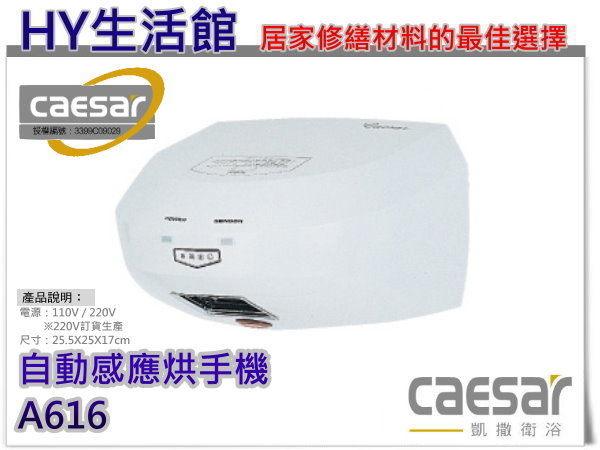 凱撒精品衛浴 A616 自動感應式烘手機《HY生活館》水電材料專賣店