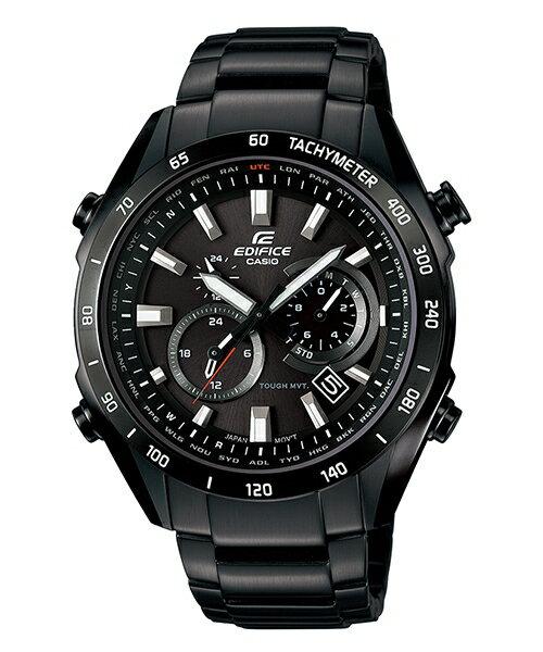 CASIO EDIFICE EQW-T620YDC-1A急速太空太陽能電波腕錶/黑面45mm