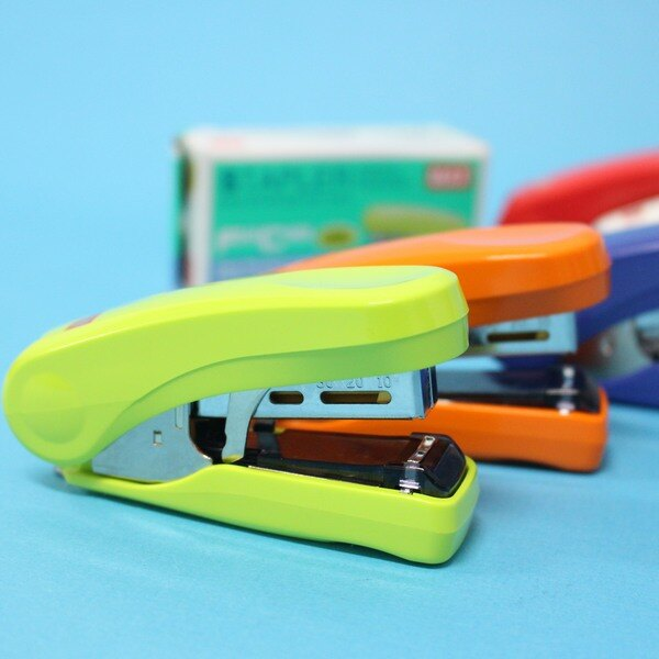 MAX美克司 HD-10FS 雙排平針10號釘書機 / 一大盒10個入 { 定200 }  日本品牌 訂書機 4