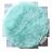 Lourdes圓形絨毛保暖電熱毯墊(湖水綠)65CGN 0