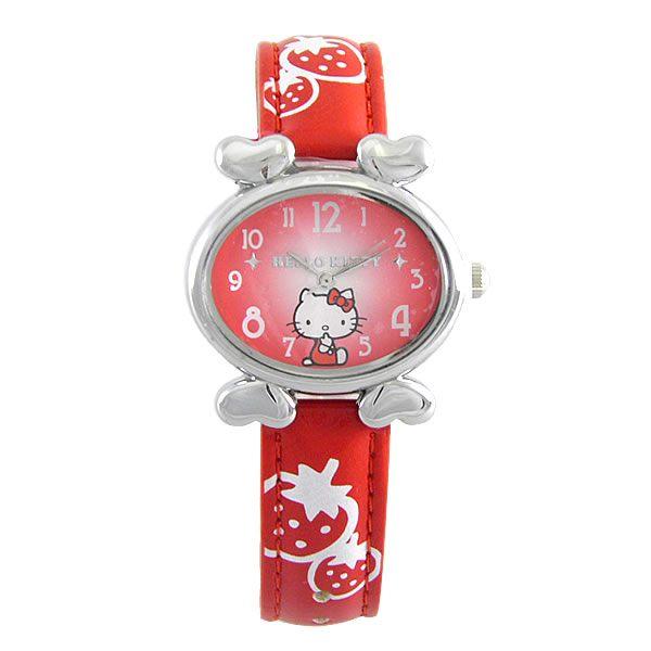 HelloKitty進口精品時尚手錶-悠閒心情(紅)-HKFR540-01C