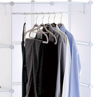 ikloo12吋收納櫃延伸配件-兩格用長衣桿 衣架 曬衣桿 曬衣架 衣櫃-商品加購只要120元