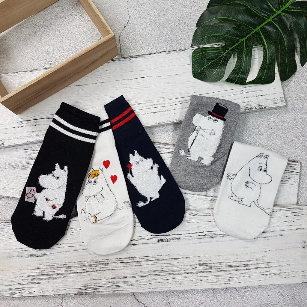 【現貨⭐嚕嚕米熱賣】韓國襪子 高質感 嚕嚕米系列棒球短襪 超夯 正韓 中筒 4