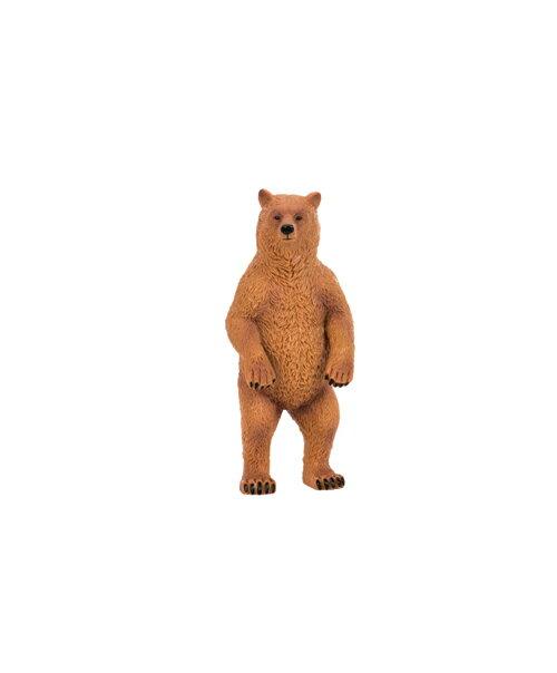 【淘氣寶寶】【美國B.Toys感統玩具】Terra 北美洲動物-棕熊