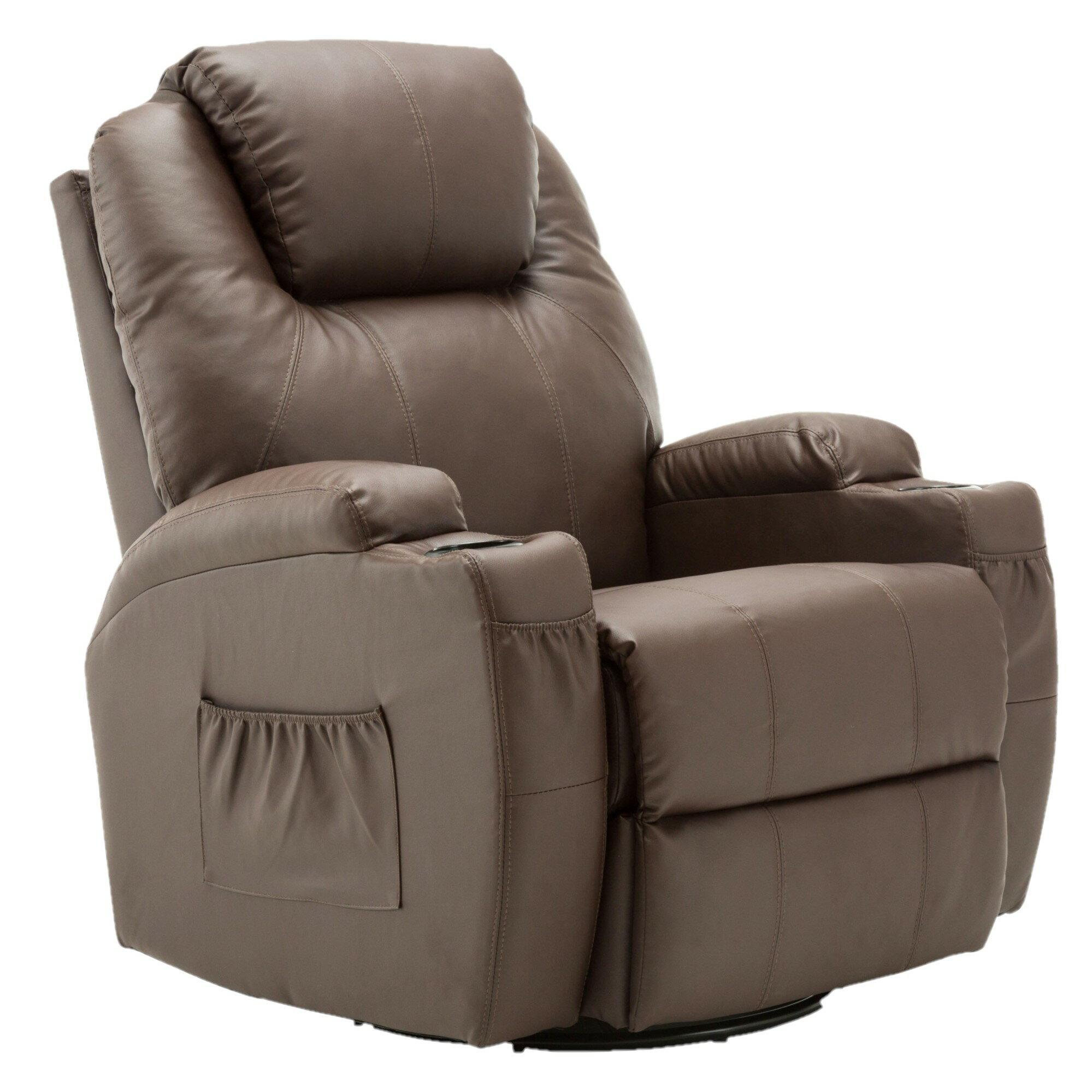 cee0499035 Modern Massage Recliner Chair Vibrating Sofa Heated PU Leather Ergonomic  Lounge 360 Degree Swivel Rocker 8031