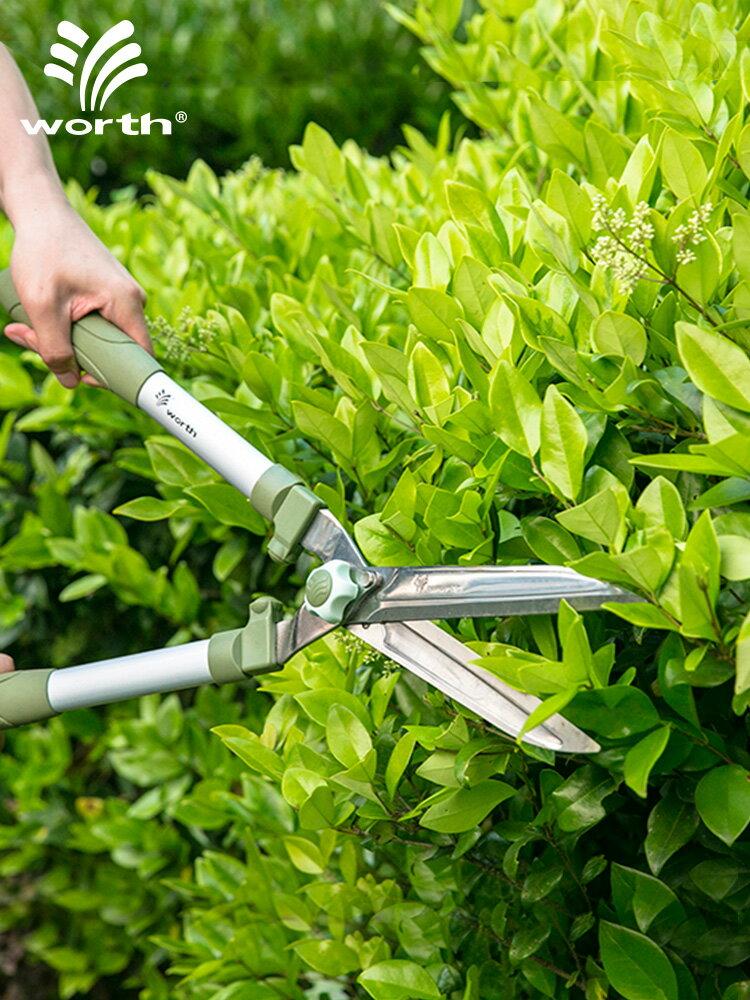 修枝剪 園藝不銹鋼綠籬剪草坪剪籬笆茶園修枝剪刀園林綠化工具『J9023』