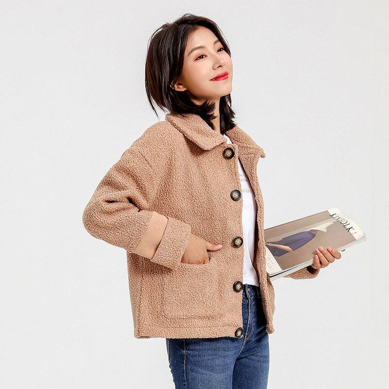 2021春季女裝韓版絨衫寬鬆外套 女ins翻領氣質bf衛衣女