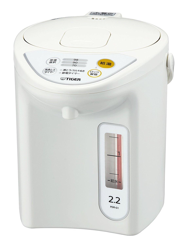 日本製 TIGER 虎牌 2.2公升 微電腦電熱水瓶 PDR-G221-W 白色 魔法瓶 微電腦 省電 電熱水壺 快煮壺