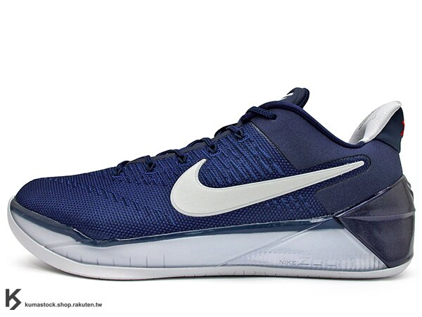 2017 NBA 湖人球星 小飛俠 最新代言鞋款 NIKE KOBE A.D. AD 12 EP MIDNIGHT NAVY 深藍白 Kobe Bryant 籃球鞋 LUNARLON + ZOOM AIR 避震 ENGINEERED MESH 鞋面科技 搭載 死後重生 全新世代 (852427-406) 0217